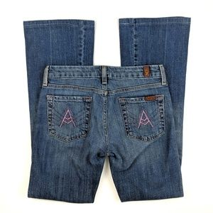 7 For All Mankind A-Pocket Bootcut Jeans 26